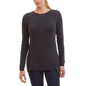 Nautica Dark Gray Cable Knit Sweater